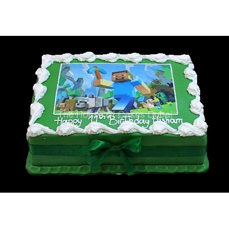 Minecraft cake 6