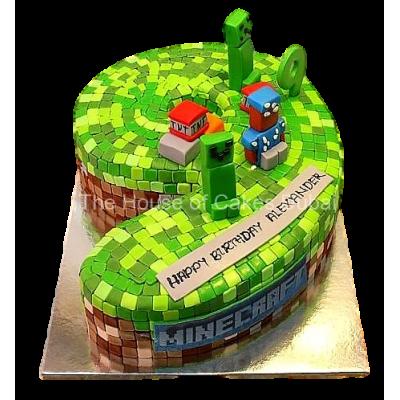 Minecraft cake 9