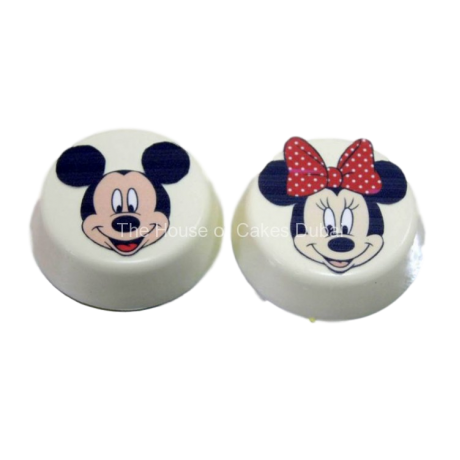 Mickey and Minnie Mouse chocolate covered Oreo's