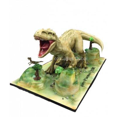 Huge 3D dinosaur cake
