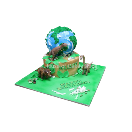dinosaurs and earth cake 6