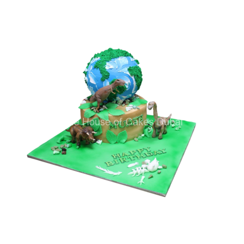 dinosaurs and earth cake 7