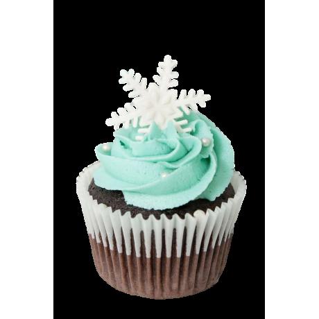 snowflake cupcake 6