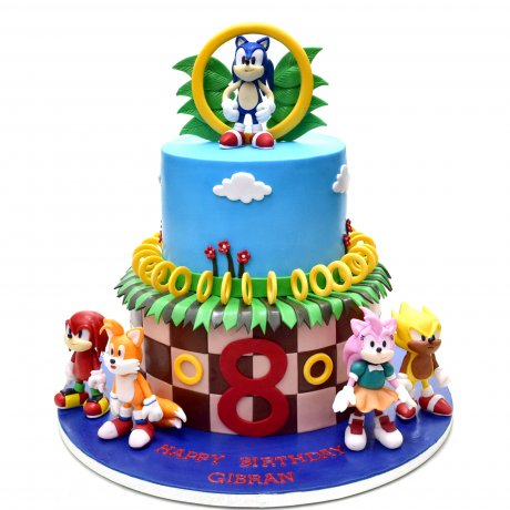 Sonic and friends cake