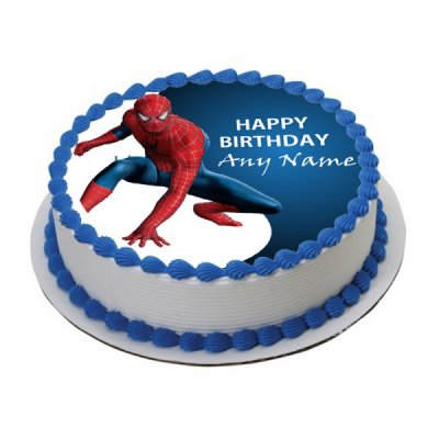 Spiderman cake with photo 3