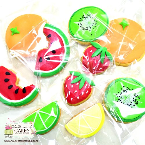 Summer theme fruit shape cookies