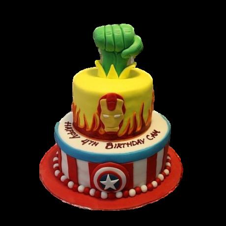 superheroes cake 12 6