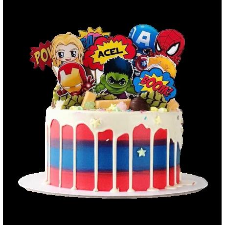 superheroes cake 6 6
