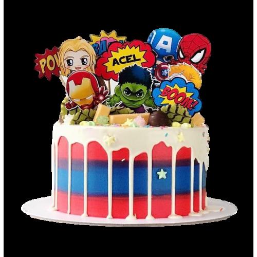 superheroes cake 6 7