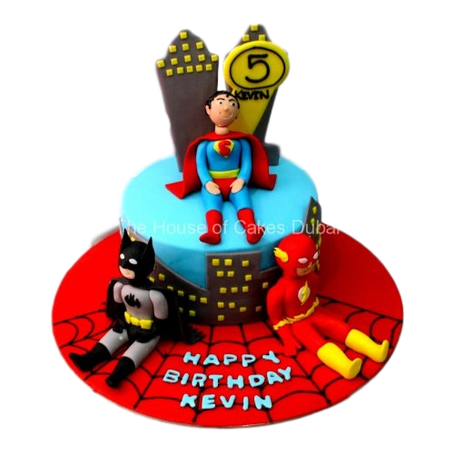 superheroes cake 14 8