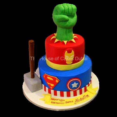 Superheroes cake 18