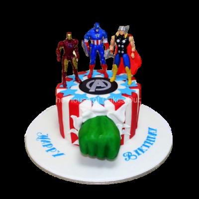 Superheroes cake 20