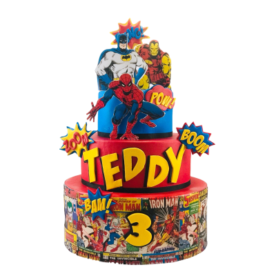Superheroes cake 32