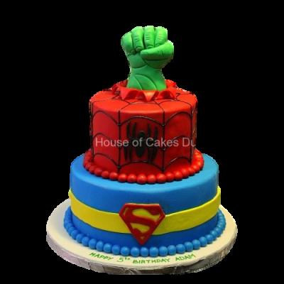 Superheroes cake 7