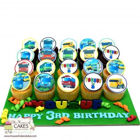 Tayo Bus Cupcakes