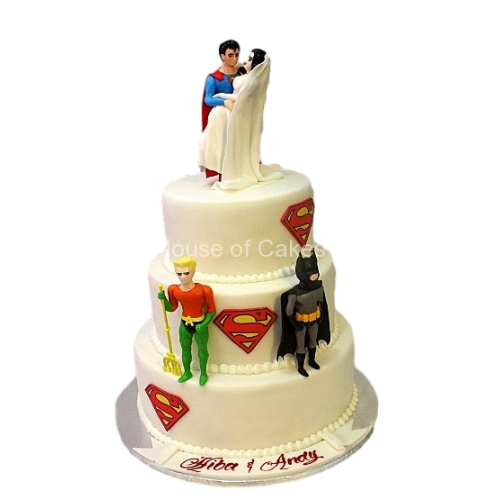 Wedding cake Superheroes