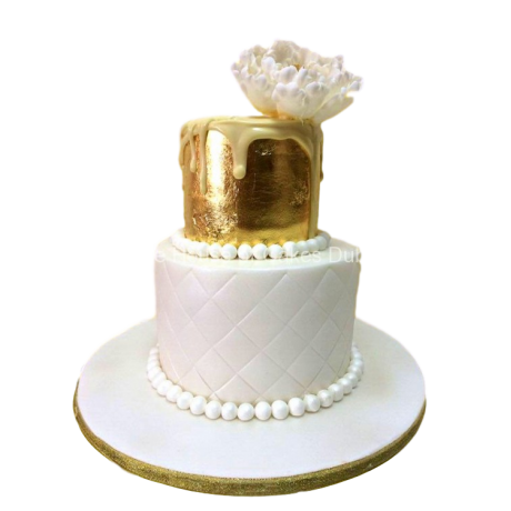 gold and white cake 2 6