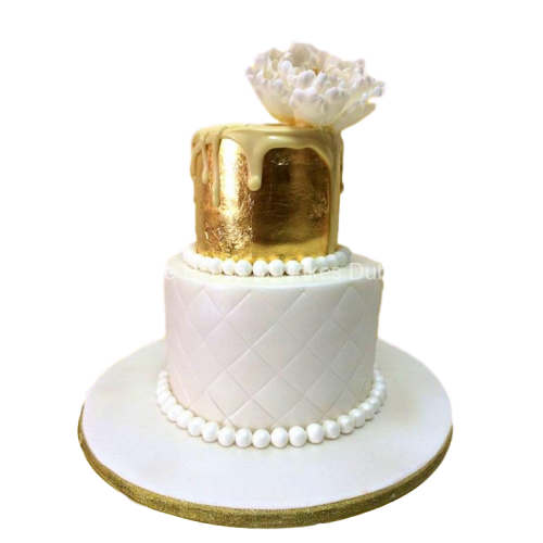 gold and white cake 2 7